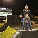 Chris Pratt and Son Jack at Monster Jam February 2018