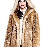 This family-owned and run business has great-quality glam and modem faux fur products. I got the white faux fur mink coat and hat from them for my Aspen marriage license signing lunch. It's beautiful! All the pieces are super luxe, chic, and fashionable.   Fabulous Furs Gold Fox Hooded Faux Fur Jacket ($249)