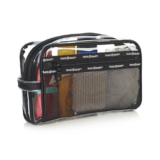 The Conair Travel Smart Sundry Bag  ($13) is a mix of mesh and plastic that easy holds your vacation essentials, from shampoo to sunscreen and everything in between.