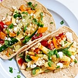 Breakfast Tacos With Fresh Veggies and Hot Sauce