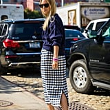 Charlotte Groeneveld's take on the pencil skirt is more street chic than business casual.