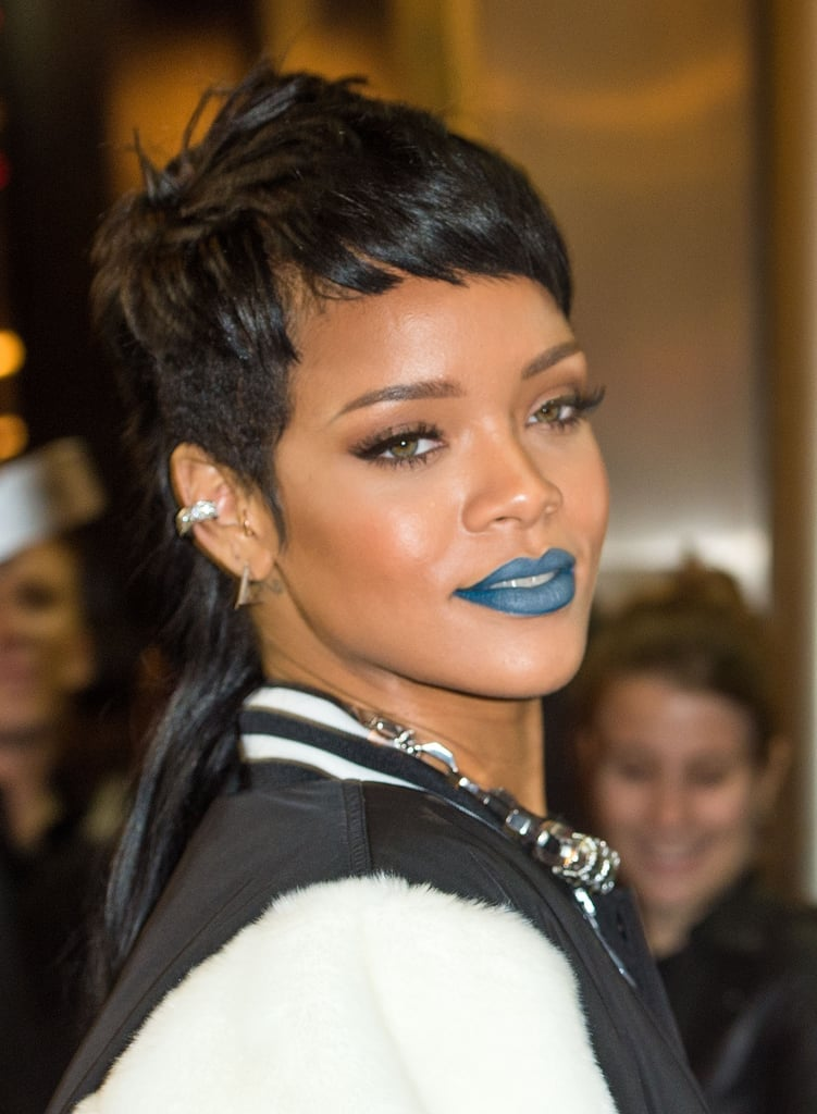 Rihanna Is Rocking an Edgy Mullet Hairstyle Again