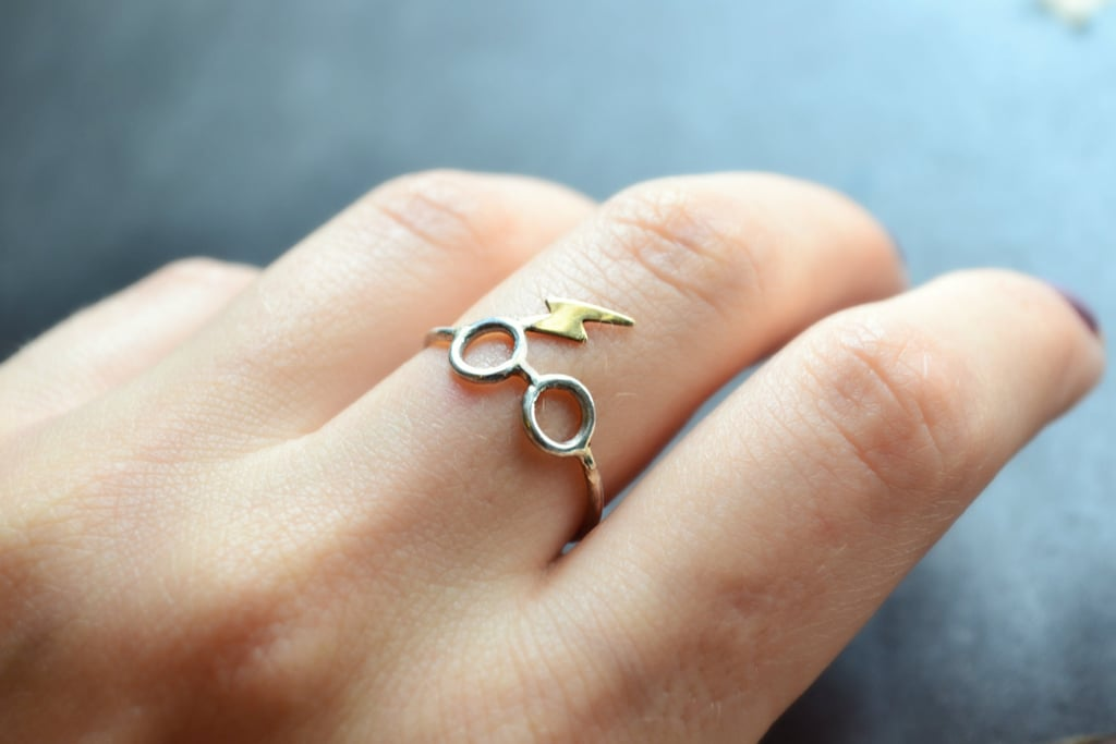 Sterling Silver Lightning and Scar Ring ($27)