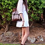 Give your LWD a makeover with deep, oxblood accessories. Source: Lookbook.nu