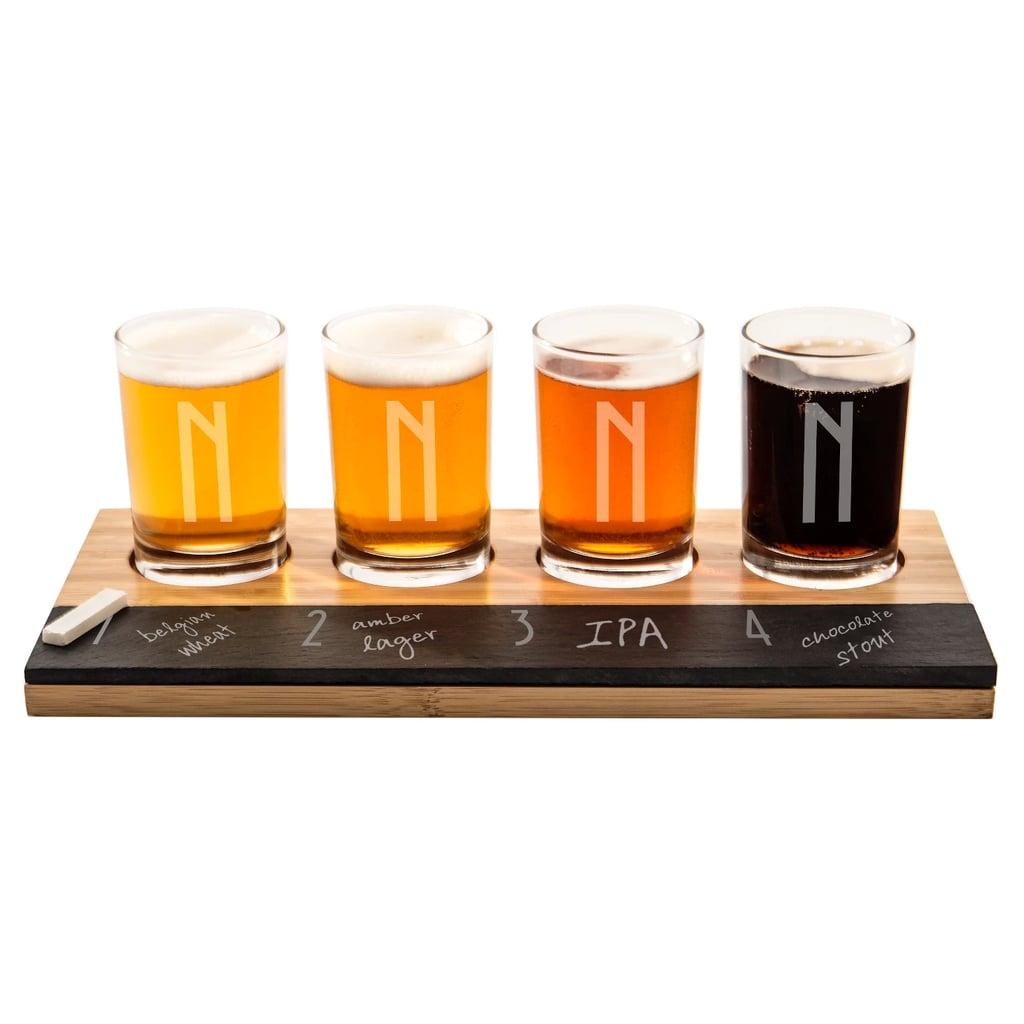 Monogram Bamboo and Slate Craft Beer Tasting Flight