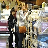 Jennifer Lawrence stopped at the deli counter.