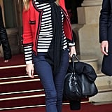 Photos of Kate Moss in Paris for Fashion Week