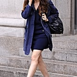 Jessica Biel wore heels in NYC.