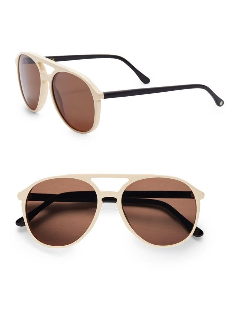The shape of these Wildfox 60MM Two-Tone Round Aviator Sunglasses ($56, originally $179) is super flattering and the neutral color goes with everything. Combined with the double digit price tag? Irresistible.