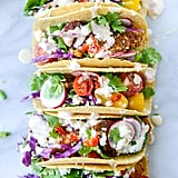 Crispy Zucchini Tacos With Cherry Pepper Crema