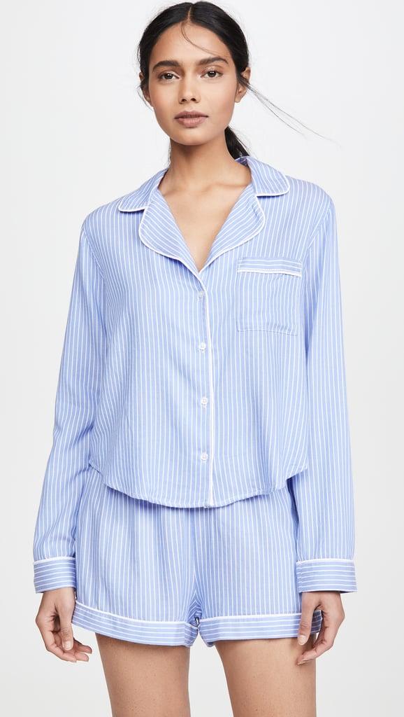 Rails Kellen Long Sleeve Shorts Pajama Set