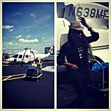 Jennifer Hudson took a helicopter ride. Source: Instagram user jhuddiva1
