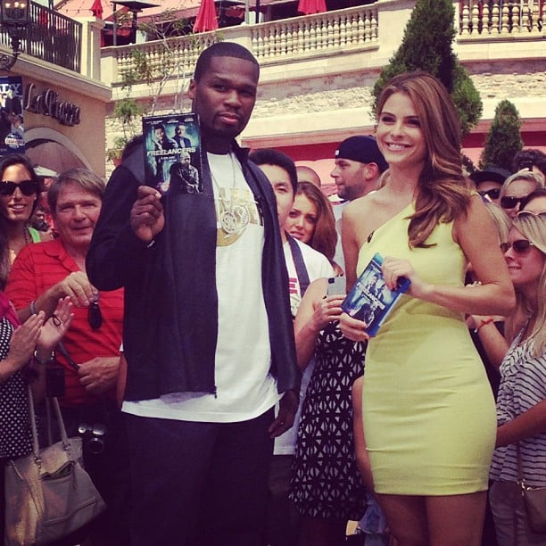 50 Cent stopped by Extra to chat with Maria Menounos. Source: Instagram user extratv