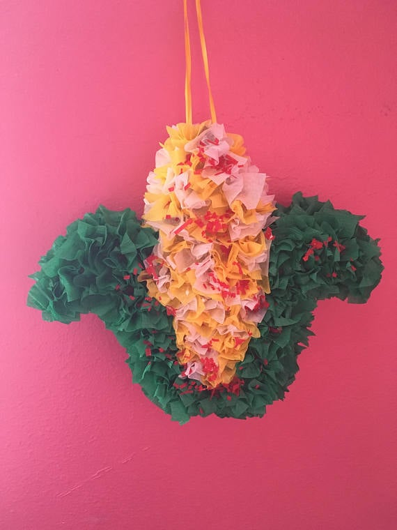 This piñata is perfect for your birthday party.  Elote Piñata ($20)