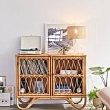 Melody Rattan Storage Cabinet