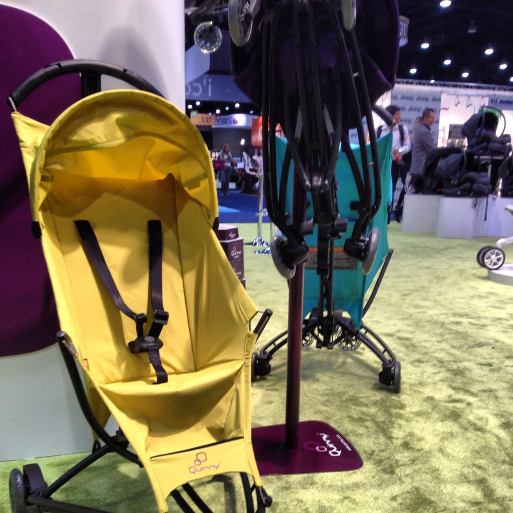 The Quinny Yezz is the newest addition to the company's stroller line. The umbrella-like stroller only weighs 11 pounds and comes with a carrying strap, making it great for travel. Plus, the covers are interchangeable. It should be available in March 2013.