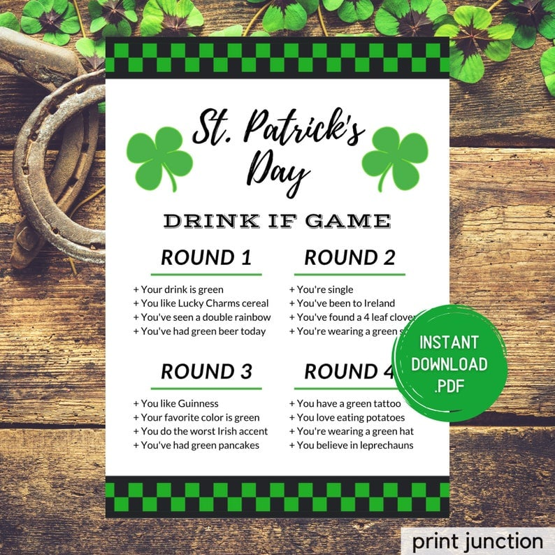 Drink If St. Patrick's Day Drinking Game