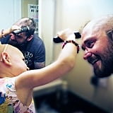 When this dad let his daughter with alopecia shave his head.