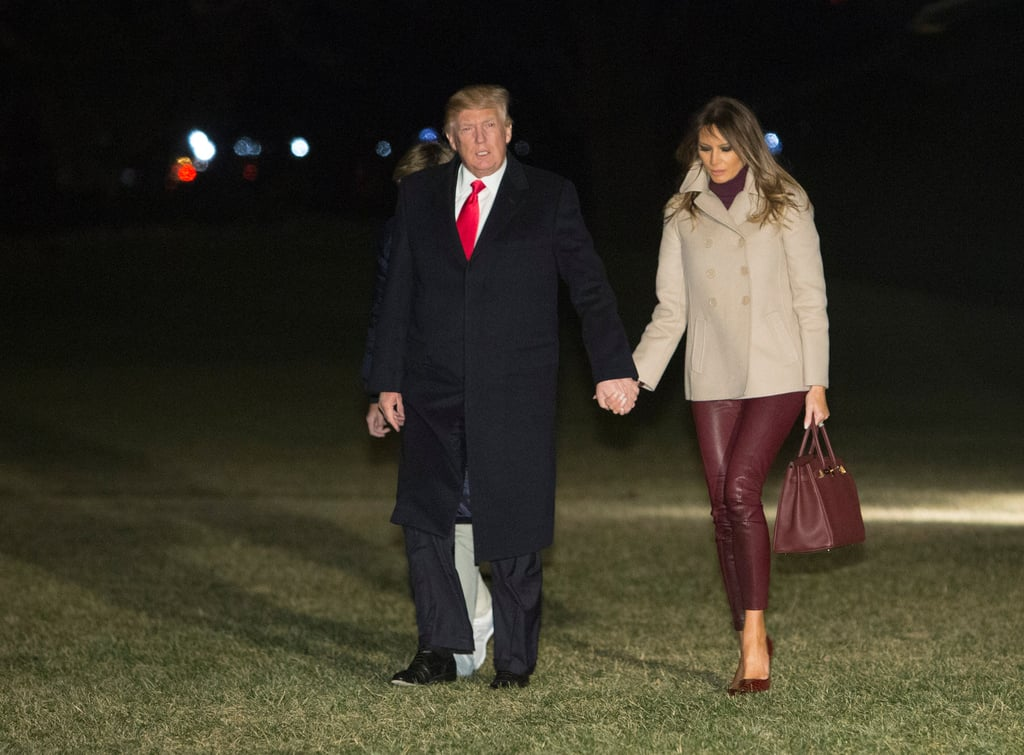 Melania Trump's Helmut Lang Leather Leggings