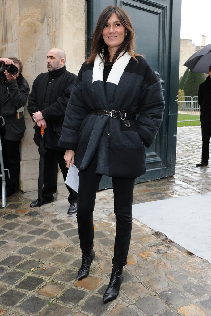 Emmanuelle Alt at the Christian Dior Haute Couture show.