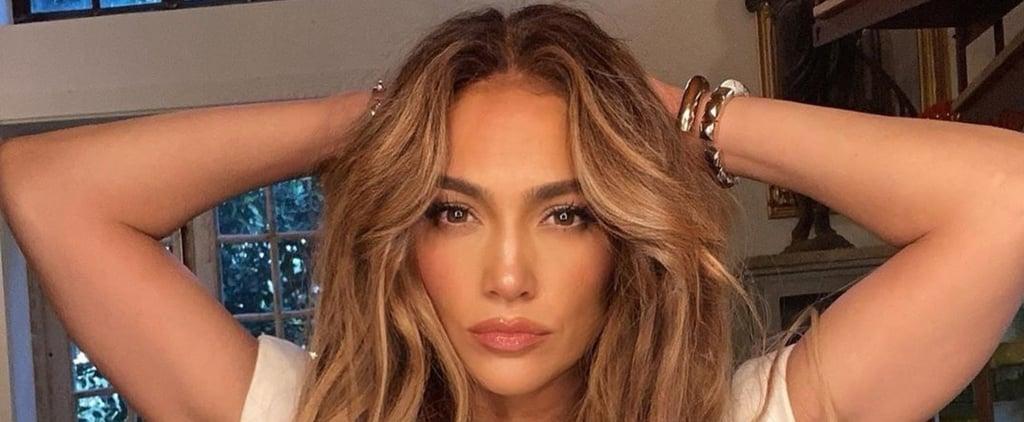 Jennifer Lopez's Long Caramel-Blonde Hair Extensions