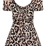 Leopard Tie Front Playsuit ($55)