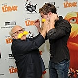 Danny DeVito helped Zac Efron out with his wild mustache.