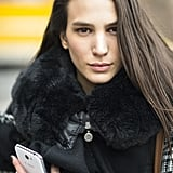 Deep side part, bold brows, and flushed cheeks: Mijo has been reading her trend reports. Source: Le 21ème   Adam Katz Sinding