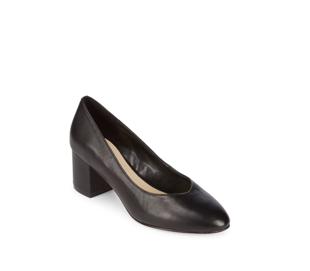 Bridal Shoes Saks: Ashley Olsen Black Block Heel