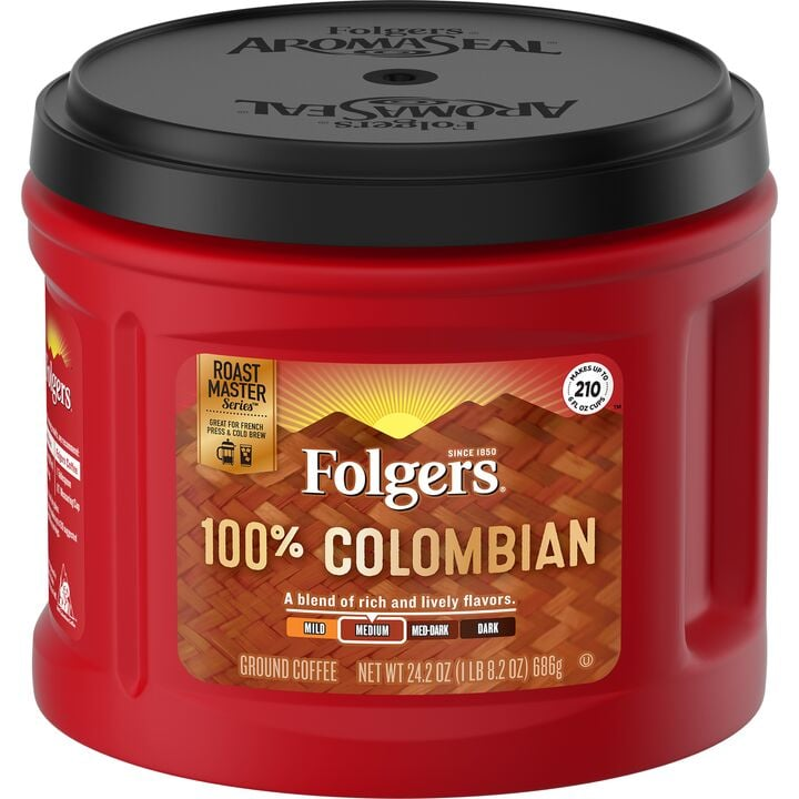 Folgers Colombian Canister