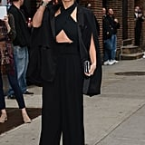 On Wednesday, Jennifer Lopez greeted fans in NYC before shooting her appearance on the Late Show With David Letterman.