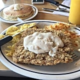 IHOP's Country Fried Chicken Steak & Eggs With Sausage Gravy
