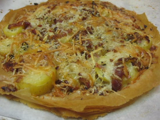 Say Cheese! Potato, Bacon, and Asiago Pizza