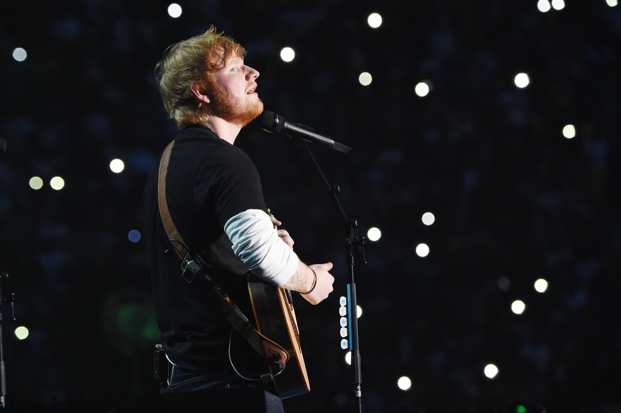 JOHANNESBURG, SOUTH AFRICA - DECEMBER 02:  Ed Sheeran performs during the Global Citizen Festival: Mandela 100 at FNB Stadium on December 2, 2018 in Johannesburg, South Africa.  (Photo by Kevin Mazur/Getty Images for Global Citizen Festival: Mandela 100)