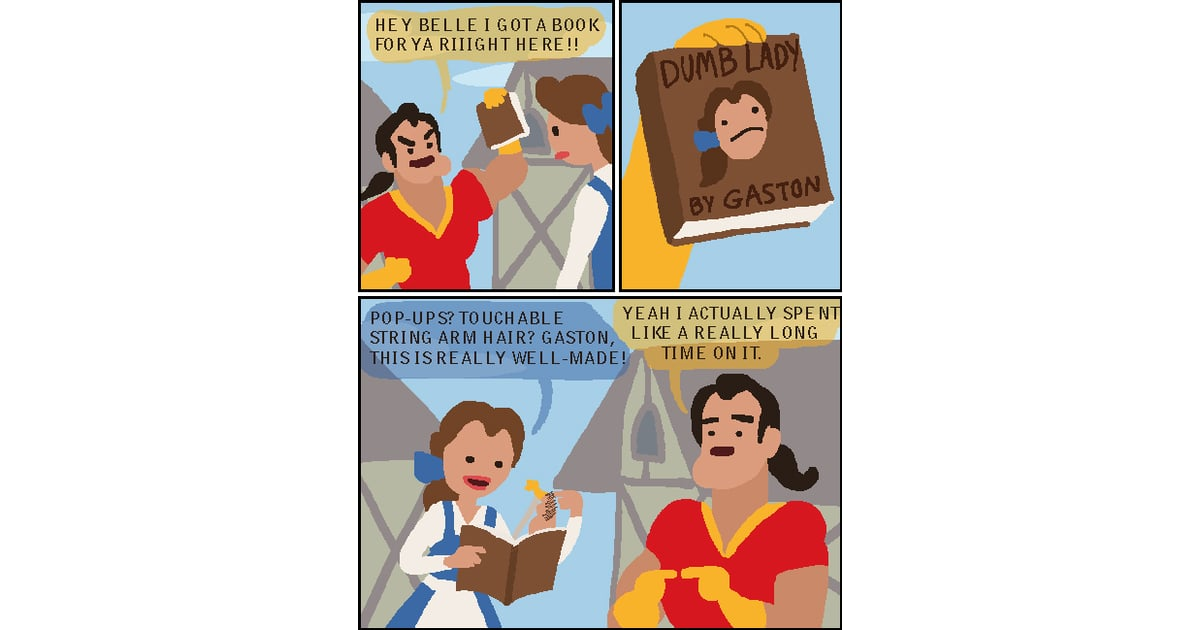 Beauty And The Beast  Funny Disney Princess Comics On