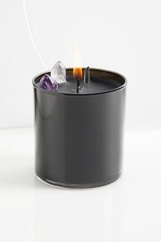Oak Moss & Amber & Fireside Soy Quartz Crystal Candle