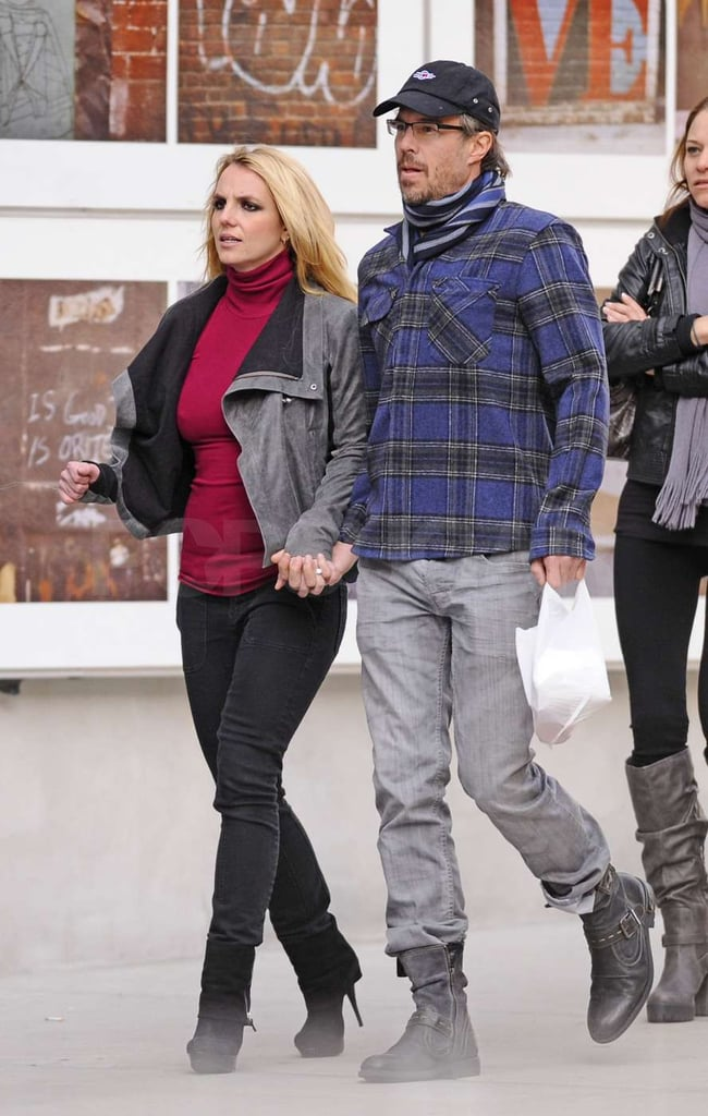 Jason Trawick and Britney Spears held hands as they walked in the Big Apple.