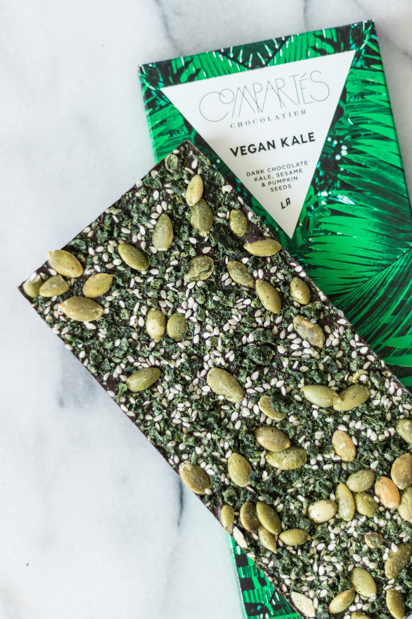 Compartes Vegan Kale Dark Chocolate Bar   POPSUGAR Fitness