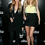 Pip Edwards with Tori Praver at RAFW in 2009