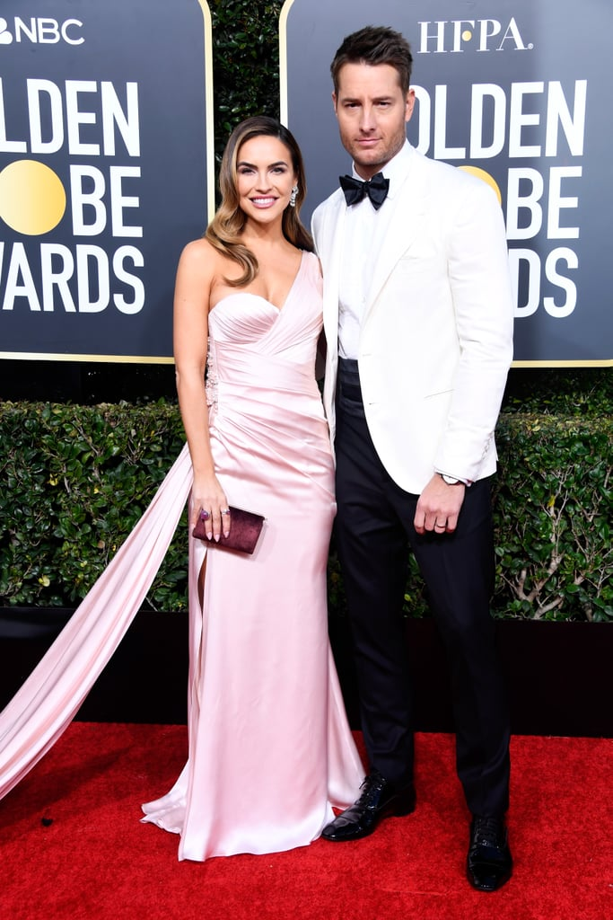 Justin Hartley makes us swoon every Tuesday night with his role as Kevin on This Is Us, but his role as husband might be our favourite. During the Golden Globes on Sunday night, the actor made our hearts flutter as he walked the red carpet with his wife Chrishell Stause. While posing for the cameras, Justin stopped what he was doing to help Chrishell properly bustle the flowing train on her dress. Total Jack Pearson move! Hopefully we'll see even more cute moments from Justin when he reunites with his costars inside.