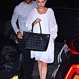 Natalie Portman White Dress in New York City
