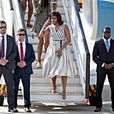 Mrs. Obama plans to deliver a speech through her Let Girls Learn program to girls and young women.