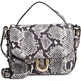 J.Crew Harper Snake Embossed Leather Crossbody Bag