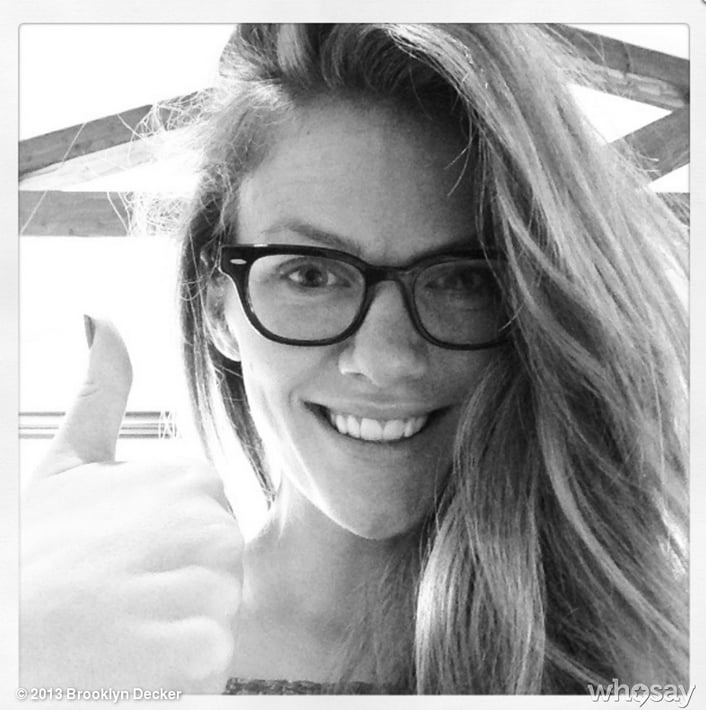 Brooklyn Decker showed off her new eyeglasses. Source: Brooklyn Decker on WhoSay