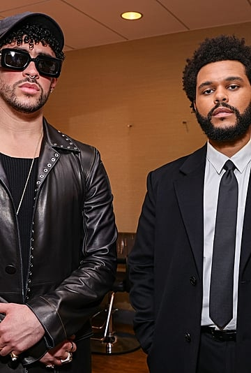 The Weeknd and Bad Bunny Hung Out at the 2021 BBMAs