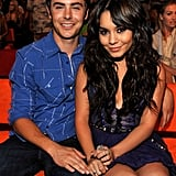 The two cuddled up at the Teen Choice Awards in August 2009.