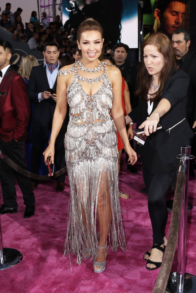 Thalia Looks Like a Sparkly Queen on the Red Carpet at Premio Lo Nuestro