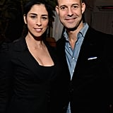 Sarah Silverman got together with Chris Mitchell at GQ's afterparty.