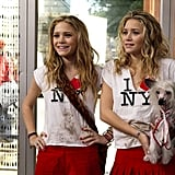 """Ever wondered how to make an """"I Heart NY"""" shirt look on point? Style it with red shorts or a pleated miniskirt."""