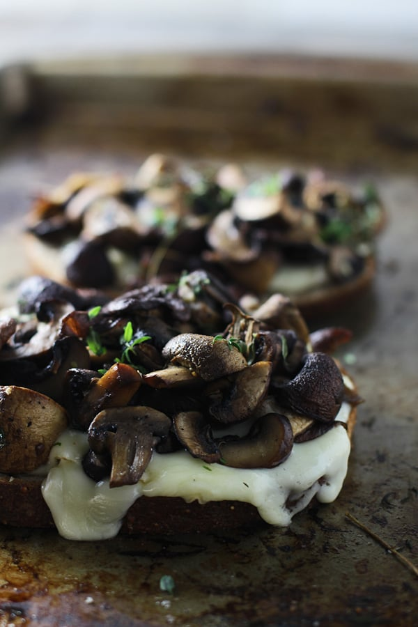 Mushroom, Brie, and Thyme Melts